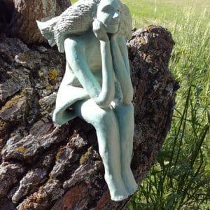 Hélène - Personnage en grès émaillé