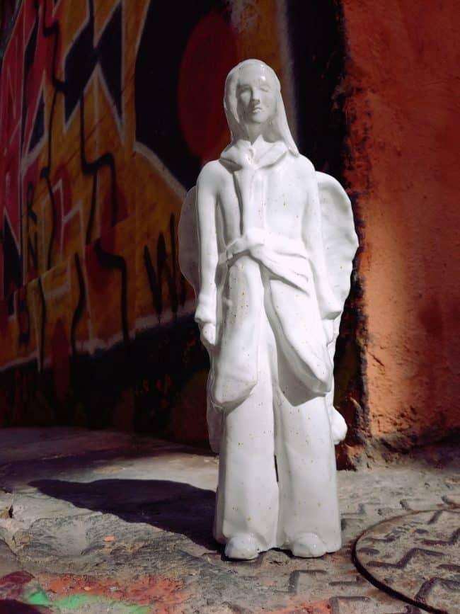 Otto - Modelage en grès émaillé blanc